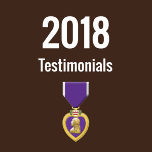 2018 Testimonials
